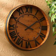 "Barrel Wall Clock www.LiquorList.com ""The Marketplace for Adults with Taste!"" @LiquorListcom   #LiquorList"