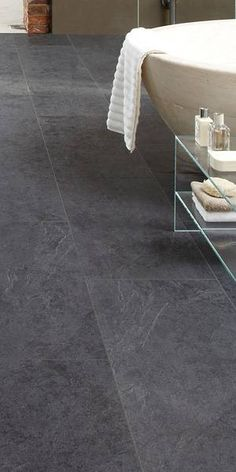 Howdens Basalt Slate laminate high performance water resistant flooring