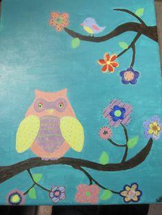 WHOOOO  Owl Painting