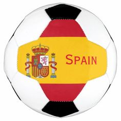Spanish Flag Soccer Ball - tap, personalize, buy right now!