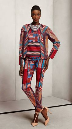 2015 Vlisco African print womens suit style