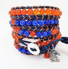 University of Florida Gators  Blue and Orange  by WrappedInLeather