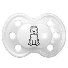 Chinese Shar-Pei Dog Cartoon Pacifiers