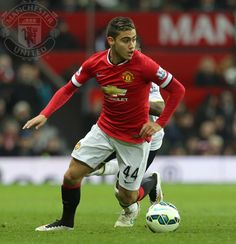 """Van Gaal on PL debutant Pereira: """"When you're 19 and playing for Manchester United, you must be very talented. I'm pleased for him."""" 15.3.2015"""