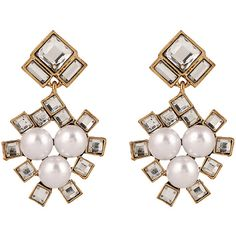 Faux Pearl Square Wedding Earrings Jewelry ($30) ❤ liked on Polyvore featuring jewelry, earrings, fake pearl jewelry, earring jewelry, square earrings, imitation pearl earrings and faux pearl jewelry