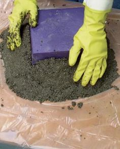 The process I use to mold containers is much simpler that the usual box-in-box method that sandwiches hypertufa and some metal mesh in a frame. Instead, I simply pack hypertufa around an overturned plastic pot or planter. And because it's so easy to work with, hypertufa can be molded into many sizes and shapes.