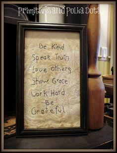 be kind stitchery by Primitives and Polka Dots