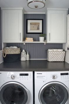 "Outstanding ""laundry room storage diy cabinets"" detail is offered on our site. Have a look and you wont be sorry you did. Laundry Room Remodel, Basement Laundry, Farmhouse Laundry Room, Small Laundry Rooms, Laundry Room Organization, Laundry Storage, Laundry Room Design, Closet Storage, Garage Laundry"