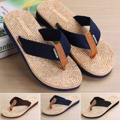 d821cb016 Men s Comfy 2018 Summer Casual Loafer Beach Sandals Moccasins Slipper Shoes  New. Flip Flop ...