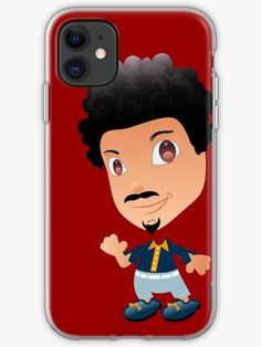 """'""""Charlie"""" - Little People of Technopolis' iPhone Case by George Barakoukakis Little People, Cartoon Characters, Iphone Case Covers, Cover Design, Iphone 11, Finding Yourself, Artists, Unique, Projects"""