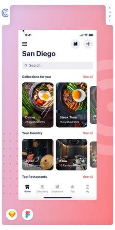 beautiful UI screens for some hottest categories, for example, e-bank e-wallet restaurant, etc Mobile Application Design, Mobile Ui Design, App Ui Design, 2020 Design, Interface Design, Web Design, Restaurant App, Android Ui, Mobile App Ui