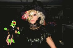 lady gaga w/ mini kermit