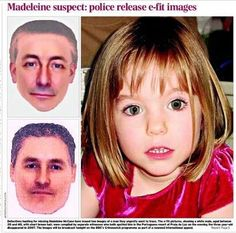 Scotland Yard Police has released the efit of a suspect in the abduction of Madeleine McCann.  Programme on BBC TV Monday 14 October