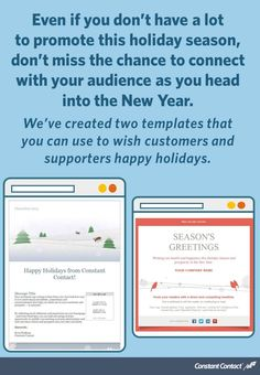 happy holidays email template