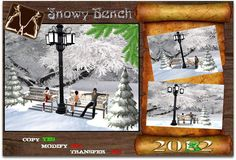 Second Life Marketplace - ..:::AB:::..Snowy Bench (tree )