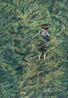 Fairytale Illustrations Of Monica Rohan – Trendland: Trends, Art, Design & Lifestyle Art And Illustration, Aesthetic Art, Aesthetic Green, Art Inspo, Fairy Tales, Cool Art, Art Drawings, Art Photography, Artsy