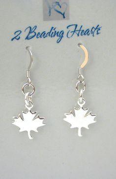 Heart Jewelry, Unique Jewelry, Silver Maple Leaf, Leaf Earrings, Semi Precious Gemstones, Swarovski Crystals, Beading, Hearts, Jewellery