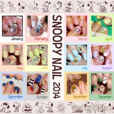 "self nail art. I love Snoopy and friends ●""・) #snoopylove #peanuts #snoopy #woodstock #olaf #belle #charliebrown #snoopynail #nail #snoopynails #snoopynailart #スヌーピー大好き #ピーナッツ #スヌーピー #ウッドストック #オラフ #ベル #チャーリーブラウン #スヌーピーネイル #ネイル #スヌーピーネイルアート"