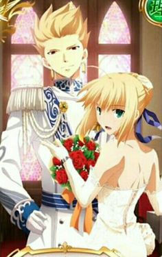 Fate stay night couple King Of Heroes (Gilgamesh) x King Of Knights (Arturia)