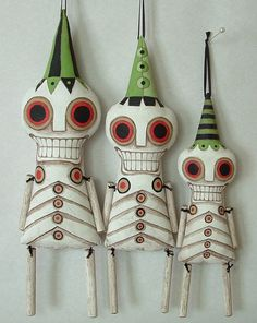Skeleton Ornament Day of the Dead by cartbeforethehorse on Etsy, $40.00