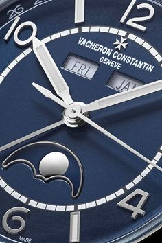 The fascinating world of complications Watch Complications, Vacheron Constantin, Luxury Watches, Watches For Men, Presents, Clock, Stainless Steel, World, Blue