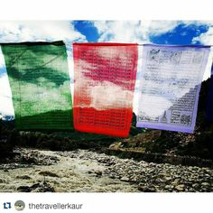 #Repost @thetravellerkaur with @repostapp To get featured tag your posts with # A usual scene in the mountains! These tibetan flags are all over the place. Where they represent religious sentiments they also add colors to the surroundings.  #indiaclicks #indiapictures #indiatravel #incredibleindia #_soi #bluesky #mountains #himalayas #manali #himachalpradesh #vsco #vscocam #igers #ig_worldshots #oyemyclick #igramming_india  #delhi_igers #travel_diaries #vsco_diary #thetravellerkaur #igers…