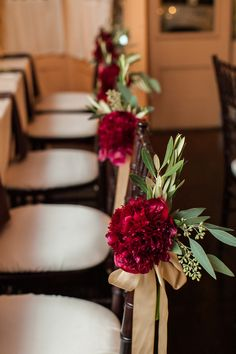 fall wedding, north carolina wedding, dahlias, mango callas, lush bouquet; eucalyptus; orange flowers; red bouquets; african american weddings, black wedding planners, black brides, mahogany chiavari chairs; ross oscar knight photography