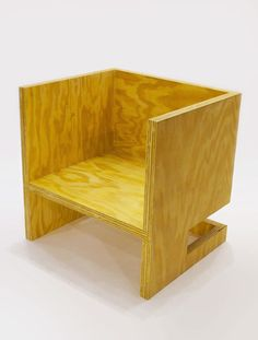 RO/LU Cube Chair ( + Subtraction Upside - Down) at Patrick Parrish Gallery NYC