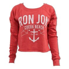 Ron Jon Anchor Crop Crew Fleece in blue Ron Jon Surf Shop, Cocoa Beach, Surf Outfit, Junior Outfits, Designing Women, Ladies Design, Surfing, Cool Outfits, Graphic Sweatshirt