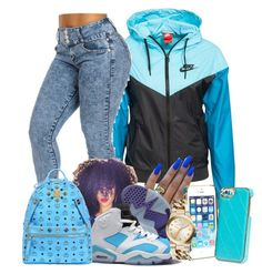 """""""UNTITLED #137"""" by favdimples ❤ liked on Polyvore featuring NIKE, Vera Bradley, Michael Kors and MCM"""