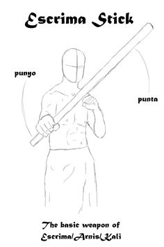 The Escrima stick, a basic and versatile weapon used in Escrima/Arnis/Kali  (some of these terms have variable spellings)