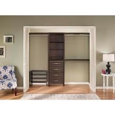ClosetMaid, Impressions 25 in. Chocolate Closet Kit, 30861 at The Home Depot - Mobile