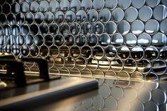 round metal tiles