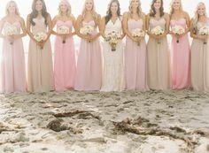 gray and blush two tone bridesmaid dress - Google Search