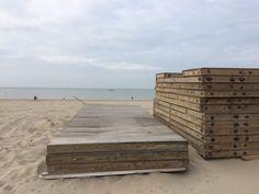 Einde seizoen bij Millers Beach, Kijkduin op 14 oktober 2016