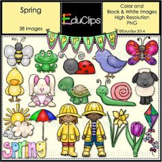 Spring Clip Art Bundle by EduClips on Etsy, $4.95