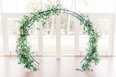 Circular Ceremony Arch // Romantic Dusty Rose Wedding Inspiration via TheELD.com