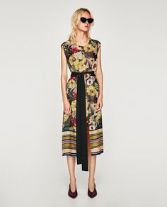 ZARA - WOMAN - STRIPED AND FLORAL PRINT TUNIC