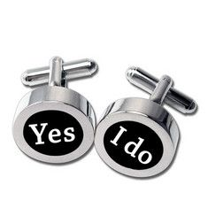 "Yes I Do Cufflinks $35.00 Size: 1/2""  These cufflinks are perfect for your favorite groom!"