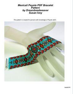 Mexicali Peyote Bracelet Pattern on Etsy, $7.00