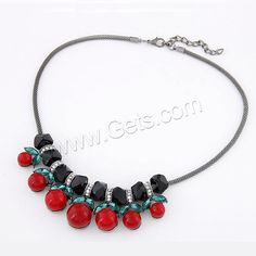 Red #Necklace, with #Crystal & #Resin, with #rhinestone.