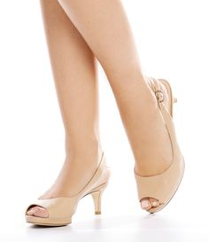 5af6a3aa95ae Alex Marie Melanie Leather Slingback Peep-Toe Pumps