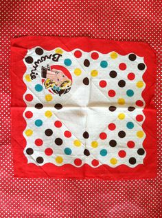 Vintage 1940s Brownie Girl Scout Handkerchief. $12.00, via Etsy.