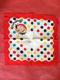 Vintage 1940s Brownie Girl Scout Handkerchief. $12.00, via Etsy.