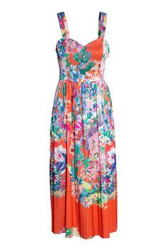 Patterned dress - Coral - Ladies | H&M GB