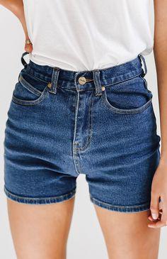 Afends Nineties Denim Shorts - Indigo from peppermayo.com