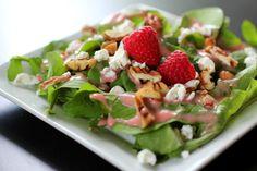 Arugula Salad with Fresh Raspberry Vinaigrette