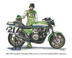 kawasaki z1000r 1983 replica eddie lawson - Google Search