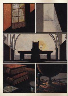 "Page 2 of ""Caboto"" by Lorenzo Mattotti and Jorge Zentner."