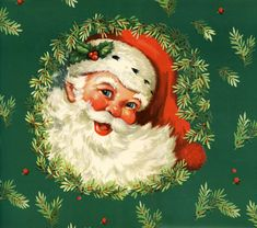 Retro Santa Clause Image